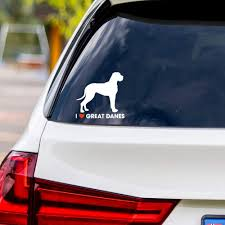 Amazon Com I Love Great Danes Vinyl Car Sticker Decal Computers Accessories