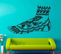 Henna Mehndi Leg Indian Pattern Dorm Bedroom Art Wall Decal Vinyl Sticker Art Home Decor Design Mural Buy At The Price Of 14 39 In Aliexpress Com Imall Com