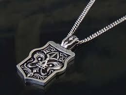 alpha dog tag pendant for men 925
