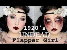 1920 s zombie flapper makeup tutorial