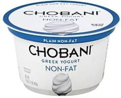 chobani greek non fat plain yogurt