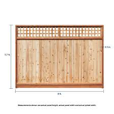 Severe Weather 6 Ft H X 8 Ft W Western Red Cedar Lattice Top Fence Panel In The Wood Fence Panels Department At Lowes Com
