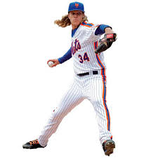 New York Mets Noah Syndergaard Fathead Cooperstown Life Size Removable Wall Decal