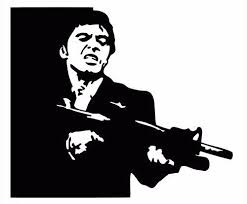 For Tony Montana 2 Sticker Vinyl Decal Scarface Al Pacino Brian De Palma Stone Various Sizes Car Stickers Aliexpress