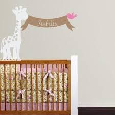 Giraffe With Name Banner And Bird Tweet Heart Home Design