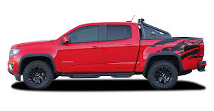 Antero 2015 2020 Chevy Colorado Rear Bed Graphic Truck Decal Accent Vinyl Package Kit Moproauto Professional Vinyl Graphics And Striping