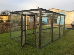Chicken Run 8ft X 12ft Chicken Fox Proof Cat Pen Painted Black
