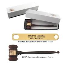 american rosewood gavel with gift box