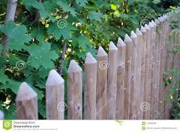 Stockade Fence With Half Round Posts Stock Photo Image Of Wood Stockade 110099236