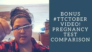 Pregnancy Test Comparison - YouTube