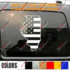 Illinois Map American Flag Decal Sticker Car Vinyl Pick Size Color No Bkgrd Ebay