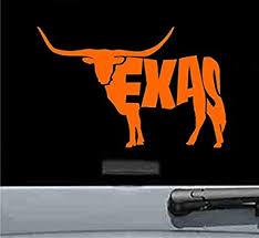 Amazon Com Texas Longhorn Cow Vinyl Decal Sticker Orange Automotive