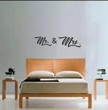 Mr Mrs Wall Decal Sticker Bedroom Wedding Marriage Ebay