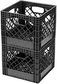 Amazon Com Buddeez Mc01016blk Milk Crates 16 Quart Black 2 Pack Home Kitchen