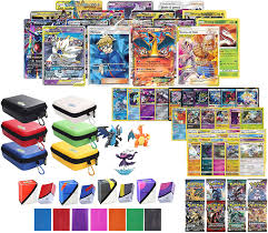 Amazon.com: Totem World Pokemon Premium Collection 100 Cards with Tag Team  GX Mega EX Trainer or Shining Holo, 10 Rares, 4 Booster Packs, 100  Protector Sleeves, Card Case, Deck Box and Figure: