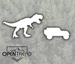 T Rex Chasing Jeep Wrangler Wrangler Decal Amazon Ca Sports Outdoors