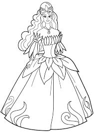 Tổng hợp các bức tranh tô màu váy công chúa đẹp nhất cho bé gái ...