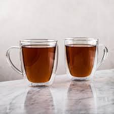 ksp milano double wall glass mug set