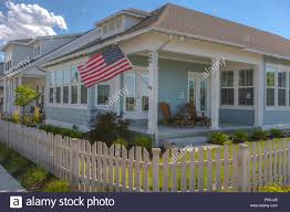 House Picket Fence High Resolution Stock Photography And Images Alamy