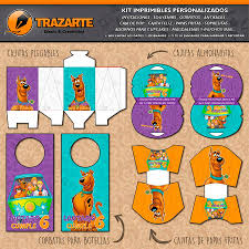Kit Imprimible Scooby Doo Personalizado Candy Bar 600 00 En