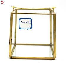 vintage brass frame and glass display