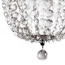 light faux crystal and chrome pendant