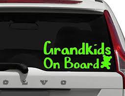 Amazon Com Cliffbennett Grandkids On Board Grandbaby On Board Baby On Board Car Decal Kids On Board Great Gift For Moms Dads Grandparents Safety Sticker Home Kitchen
