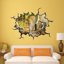 East Urban Home Safari Cracked Hole Wall Decal Reviews Wayfair