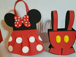 Dulceros Golosineros En Goma Eva Mickey Y Minnie Mouse