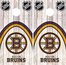 Boston Bruins Cornhole Wrap Nhl Hockey Game Board Skin Set Vinyl Decal Co272 Cornhole Bag Toss