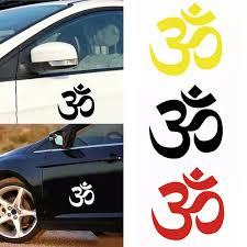 Vova Fashion Car Simple Om Aum Symbol Yoga Removable Car Sticker Truck Boat Window Bumper Decal