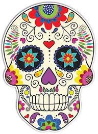 Amazon Com Sugar Skull Sticker Day Of The Dead Decal By Megan J Designs Laptop Car Vinyl Tumbler Sticker Automotive