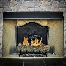 black fireplace canopy hood