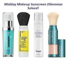midday makeup sunscreen dilemmas