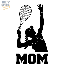 Tennis Female Serving With Mom Text Decal Car Stickers And Decals