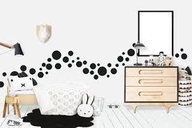 Black Polka Dot Wall Decals 63 Kids Wall Dots
