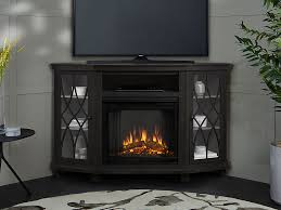 lynette grey corner electric fireplace
