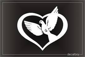 Dove Peace Heart Decal