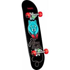 hoopla Alana Smith Wolf Complete Skateboard Black - 7.5 x 28.65 - Skate One