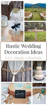 rustic wedding ideas that are diy