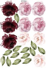 Murwall Peony Floral Wall Decal Red Rose Buy Online In Antigua And Barbuda At Desertcart