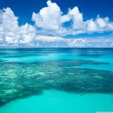 صور خلفيات شاطئ البحر مع الغيوم منظر طبيعي خلاب Sea Ocean Beach
