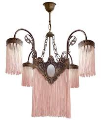 antique french pink fringes and bronze