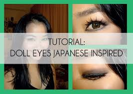 tutorial doll eyes anese inspired