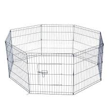 Buy 24 Tall Wire Fence Pet Dog Cat Folding Exercise Yard 8 Panel Metal Play Pen By Qoma On Dot Bo