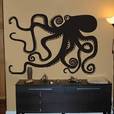 Octopus Kraken Vinyl Wall Decal Sticker Kitchen Stonecreekdecor On Artfire