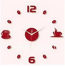 6 96 Modern Black Wall Clock 3d Diy Art Coffee Break Stickers Wall Decals For Offic Wall Clocks Living Room Black Wall Clock Wall Stickers Murals
