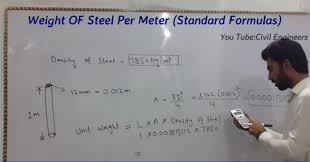 per meter using standard formulas