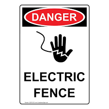 Vertical Danger Electric Fence Osha Safety Sign 10x7 In Plastic For Electrical By Compliancesigns Amazon Com Industrial Scientific
