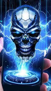 future tech skull live wallpaper free